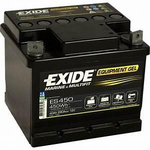 Batterie Exide Gel : batterie exide equipment gel 40ah es450 accastillage bateau ~ Medecine-chirurgie-esthetiques.com Avis de Voitures