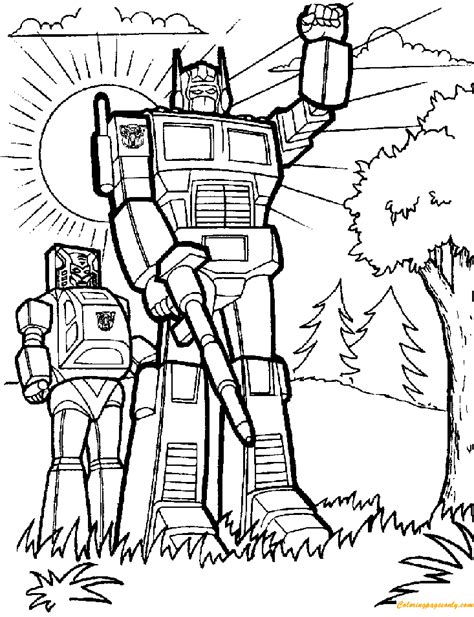 transformers robots coloring page  coloring pages