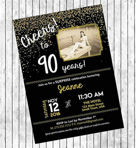 11+ 90th Birthday Invitations Designs & Templates PSD