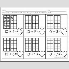 "The Best Of Teacher Entrepreneurs Ii Free Math Lesson  ""teen Number Ten Frames A Valentine's"
