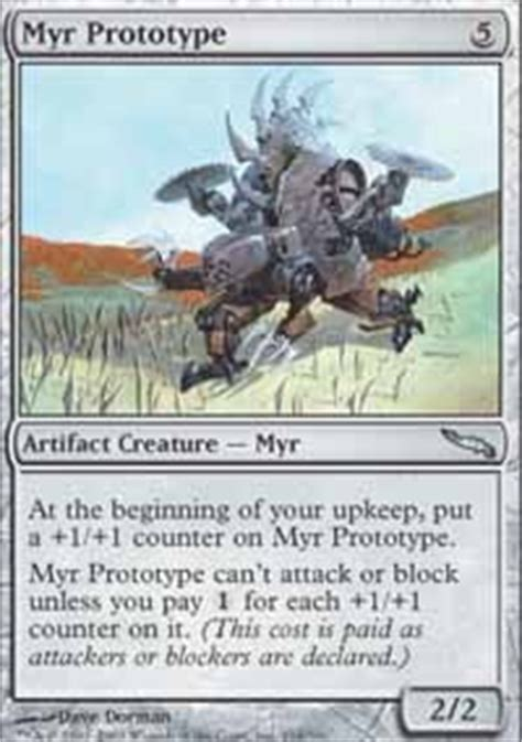 Mtg Myr Deck Tappedout by Myr Prototype Mirrodin Mtg Card