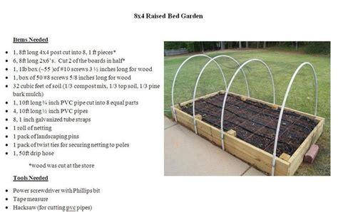 4x8 raised bed garden plans garden gardens