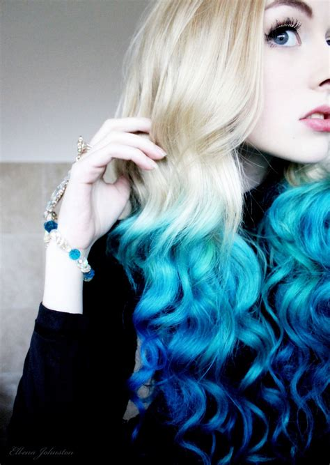 Blue Dip Dyed Ombre Hair Dyed Hair And Pastel Hair