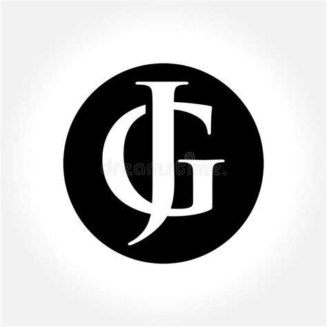 jg initial letters  circle monogram logo stock vector illustration  flat finance