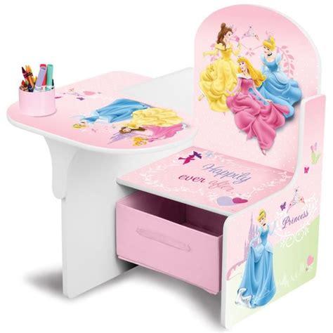 chaise bureau princesse disney princesses chaise bureau et rangement achat