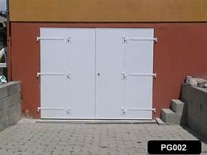 portes de garage en lame pvc a fabriquer ou pret a installer With porte de garage a la francaise 4 vantaux