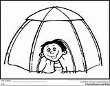 Tent Camping Coloring Pages Drawing Igloo Clipart Preschool Sheet Sheets Printable Colouring Tents Crayons Camps Scout Theme Barn Crayon Getdrawings sketch template