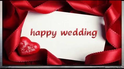 happy wedding wishes sms whatsapp video congratulations message  marriage youtube