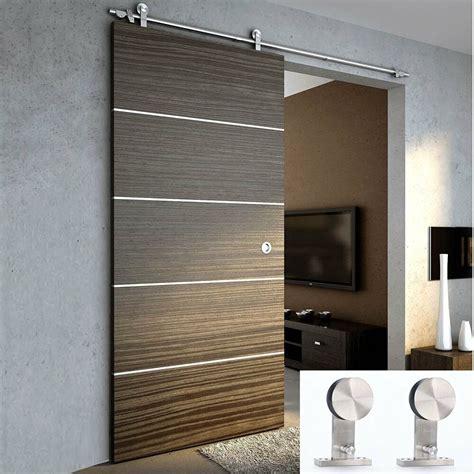 Modern Barn Doors by 6 6ft Modern Sliding Door Hardware Kit Stainless Steel