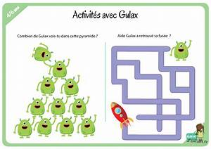 Jeux Enfant 4 Ans : activit s avec gulax l 39 extra terrestre 4 6 ans ~ Dode.kayakingforconservation.com Idées de Décoration