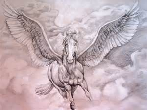 pegasus design amazing white ink pegasus design