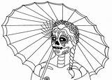 Coloring Pages Skull Dead Printable Muertos Dia Los Parade Sheets Popular Enlarge Save Right Cool Filminspector Wenchkin Flats sketch template