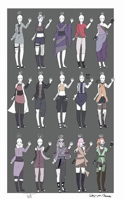 Deviantart Naruto Outfit Adoptables Clothes Anime Skip