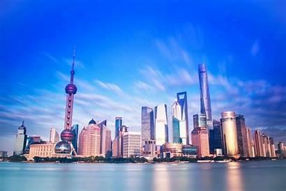 Shanghai China Skyline Sky Cityscape Buildings Arquitectura