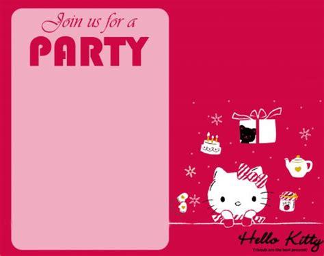 kitty wallpaper  party invitation card