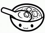 Soup Coloring Bowl Colouring Pot Template Miso Sketch Soups Templates Coloringhome sketch template