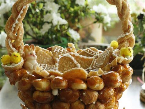 la cuisine du panier panier de pâques choux et nougatine par la cuisine caro