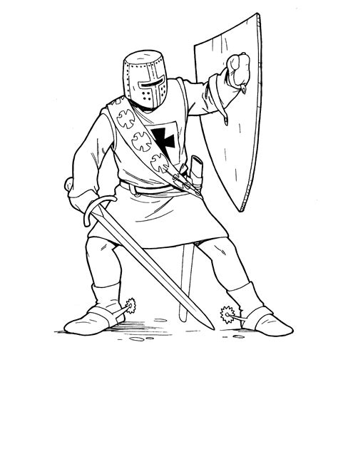 soldiers  knights coloring pages  sca coloring