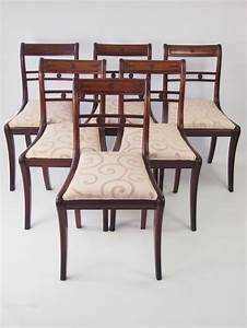 Set 6 Regency Mahogany Dining Chairs Antiques Atlas
