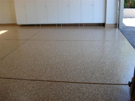 color chip garage floor from decorative concrete resurfacing in palm desert ca 92255