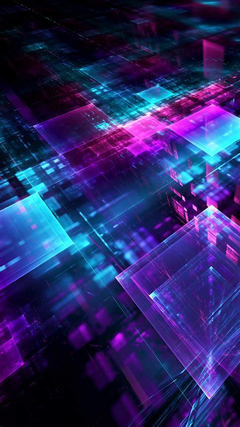wallpaper digital geometric cube lines