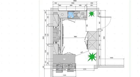 cuisine parall鑞e avec ilot plan implantation cuisine photos de conception de maison elrup com