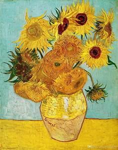 2018 Sunflower Vincent Van Gogh Art Print On Canvas Home