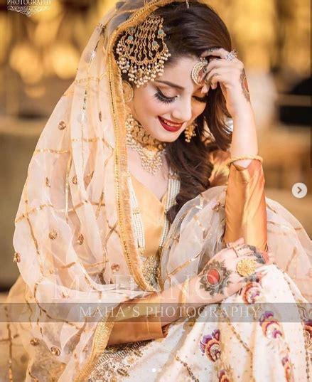 beautiful bridal shoot  actress alizeh shah