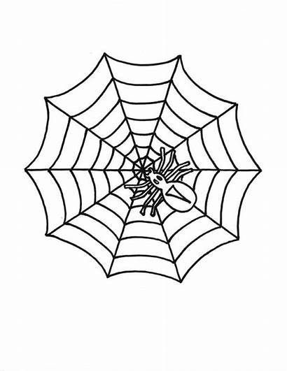 Spider Web Coloring Drawing Pages Getdrawings