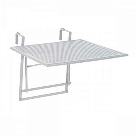 stolik ogrodowy podwieszany bialy stal skladany stol
