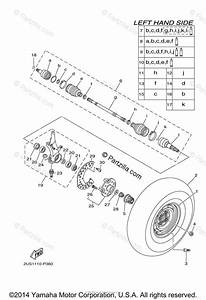 Yamaha Side By Side 2015 Oem Parts Diagram For Front Wheel