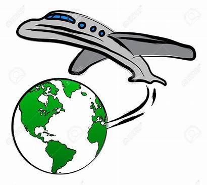 Clipart Plane Traveling Earth Clip Travel Destination
