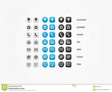 15 Contact Icons For Business Cards Images
