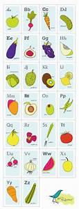 Fruit Baby Chart Nursery Art Print Alphabet Cards Fruits And Vegetables