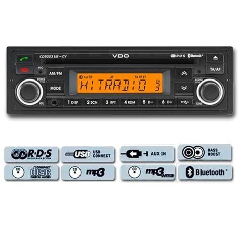 autoradio mit bluetooth freisprecheinrichtung vdo cd9303ub cv cd mp3 autoradio schwarz orange