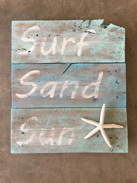 beach distressed sign  pallet wood beach signs