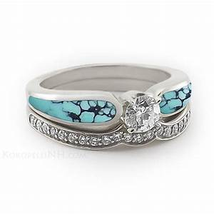 unusual engagement rings stormy turquoise engagement With turquoise and diamond wedding ring