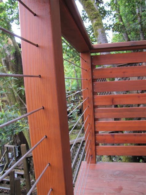 Cable Rail Wood Post and Rail   Contemporary   Portland