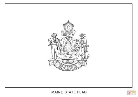 Flag Of Maine Coloring Page Free Printable Coloring Pages