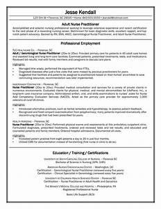 2016 Nurse Practitioner Sample Resume Recentresumes Com