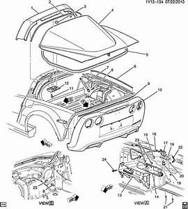 15250758 Genuine Oe Chevrolet Corvette C6 Rear Hatch Seal