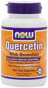 Now Foods Quercetin W  Bromelain  120 Vcaps