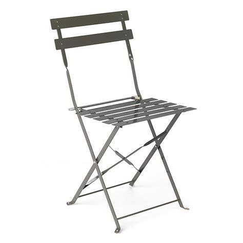 chaise de jardin pliante taupe en acier pims chaises