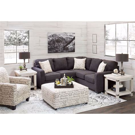 Raf Sofa Sectional by 2pc Charcoal Sectional With Raf Sofa F2 166rs 2pc
