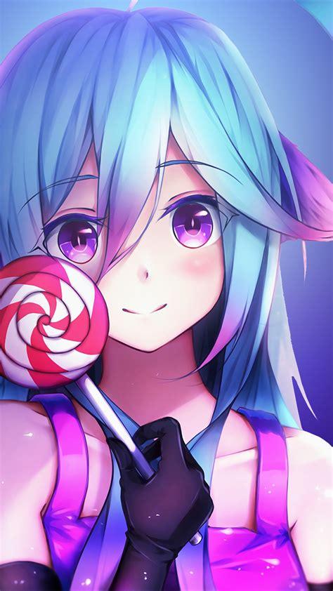 Wallpaper Anime Girl Girly Lollipop 4k Anime 4923