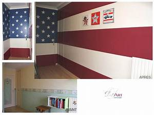 deco chambre drapeau americain exemples d39amenagements With deco chambre etats unis