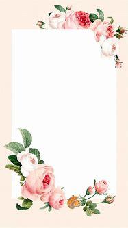 Blank floral rectangle frame vector mobile phone wallpaper ...