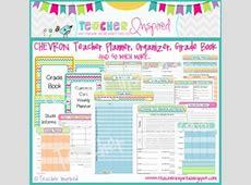 CHEVRON Teacher Planner, Grade Book, and Organizer by