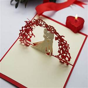 dw f18 hot sale 3d pop up chinese handmade wedding card design With handmade wedding invitations for sale