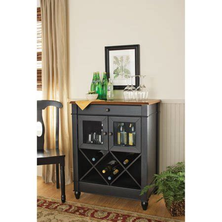 walmart wine cabinet better homes and gardens autumn wine cabinet black